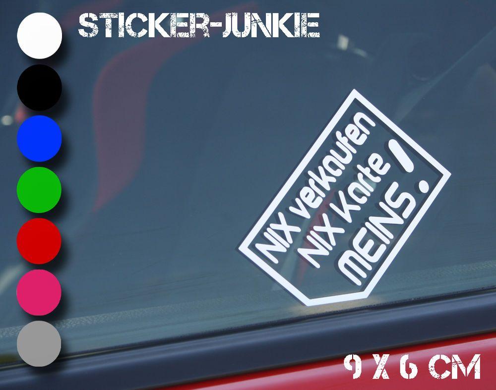 Ich Nix Verkaufenaufkleberstickersticker Bombnix Karte