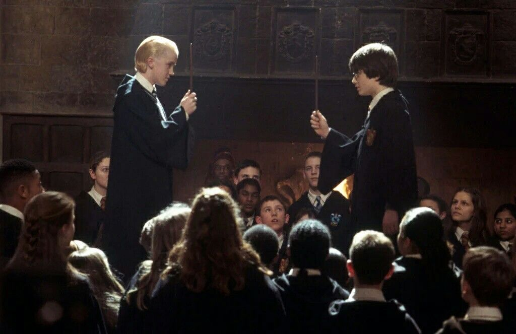 Duell Harry Potter Draco Malfoy Harry Potter Movies Harry Potter Harry Potter Wall