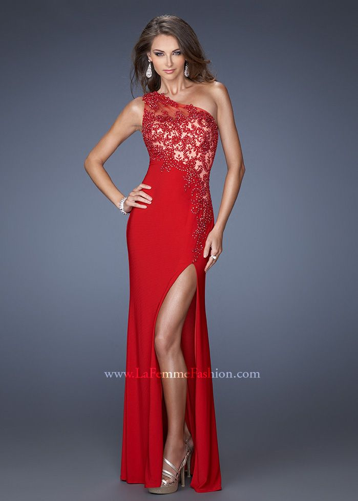 Long Red Prom Dresses | ... Long Dress :: Red One Shoulder La ...