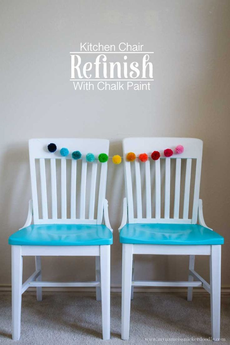 Kitchen Chair Refinish With Chalk Paint | DIY Home Decor | Pinterest ...
