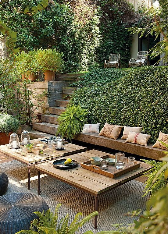 Idea For Private Patio (ie. Btwn Home And Rest Of Yard...would Work Well  For Side Of A House W/ W/out Basement)