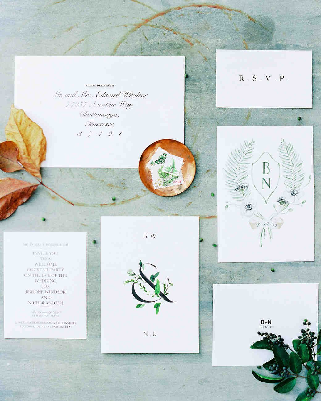 Stationery Suite For Hitching Pinterest Nashville Autumnal