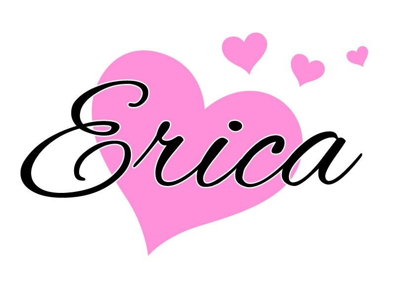 Erica Name: This Heart Name Monogram Wall Decal Will Add A Playful