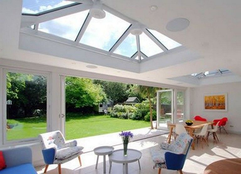 28 Marvelous Charming Glass Roof Design Can Penetrate Light From