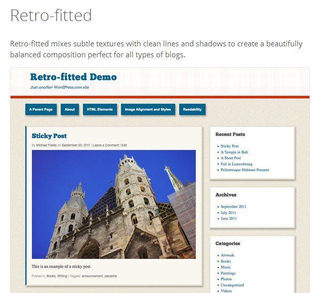 WordPressTema : Retro-fitted tema i Wordpress http://theme.wordpress ...