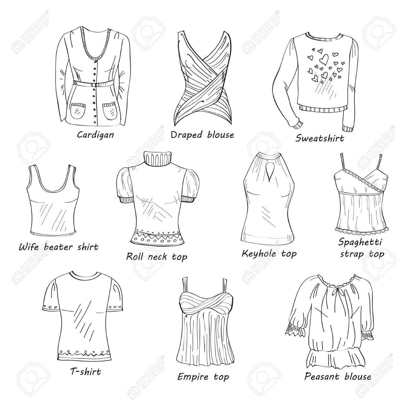 Opciones de blusas