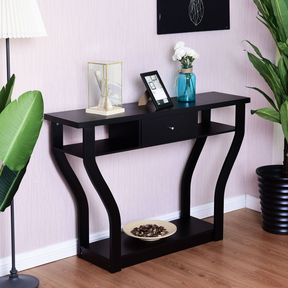 Modern Entryway Accent Console Table With Drawer Accent Console Drawer Entryway Glasso In 2020 Console Table Modern Console Tables Sofas For Small Spaces