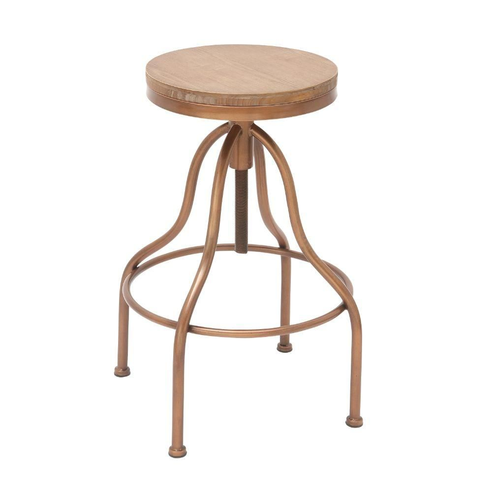 Beautiful Round Wooden Stool Seats