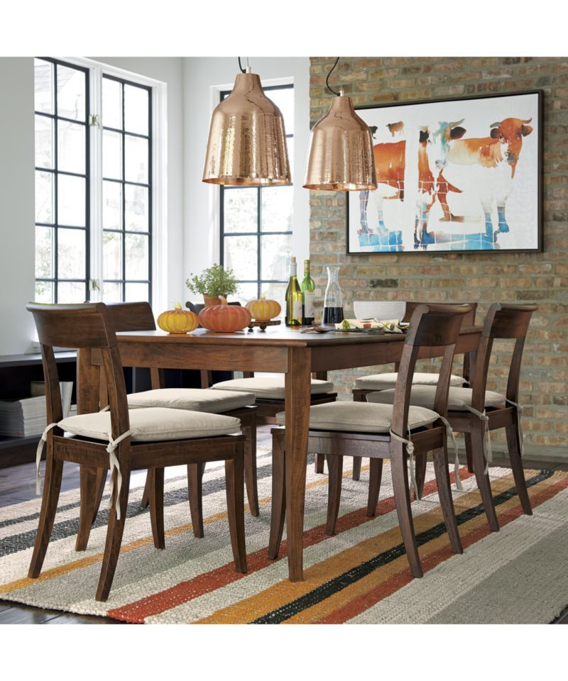 Big Sur Natural 65 Dining Table Walnut Dining Table Dining Table Natural Dining Chairs