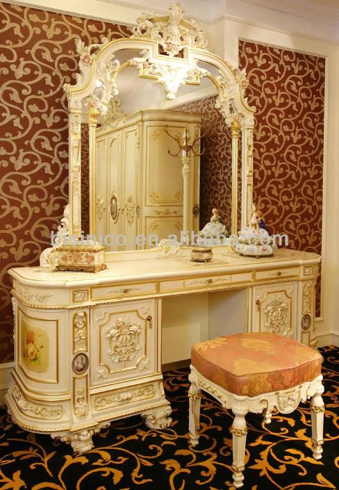 French Luxury Style Hand Made Dressing Table View Antique French