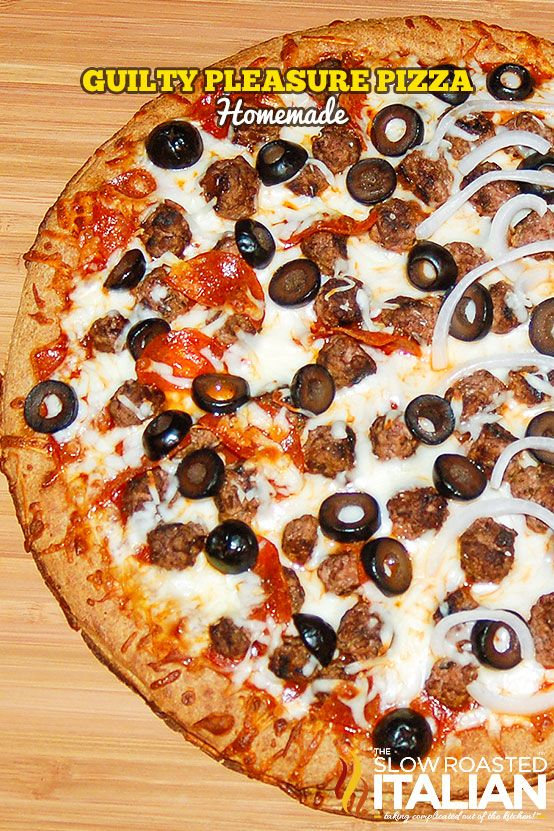guilty pleasure pizza with less guilt recipe food pinterest pizzas pizza rolls and meals