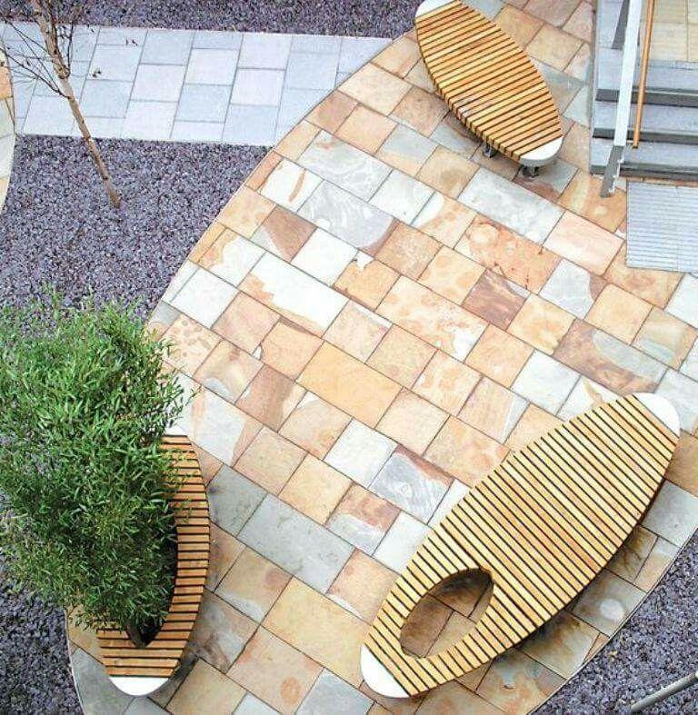 Ideas De Diseño De Jardines Residenciales: #bancas #moviliario #urbano #inovador #contemporaneo