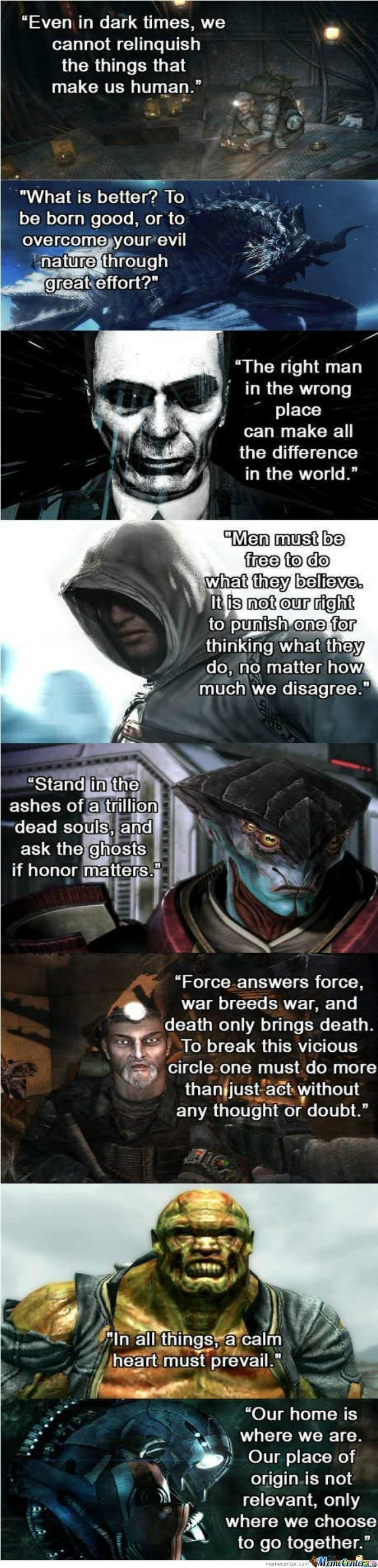 Some Solid Inspirational Video Game Quotes Peace Game Quotes