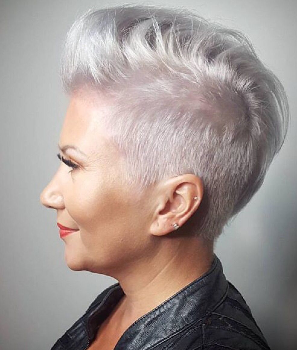 Silver fox neue frisur pinterest short hair haircuts and