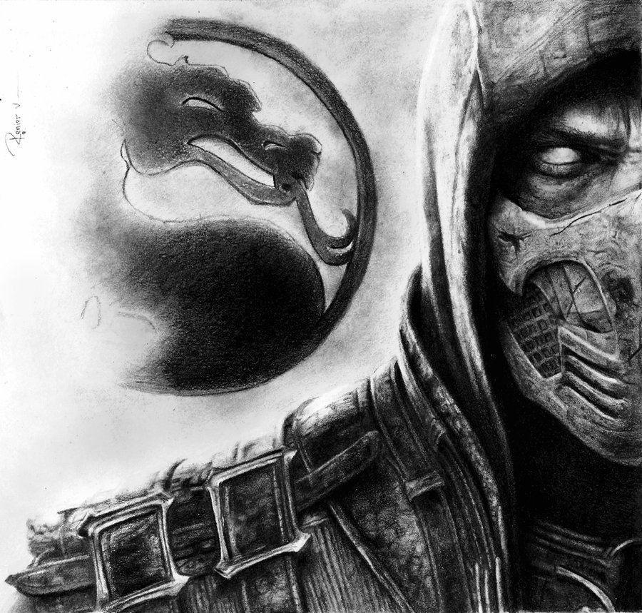 96 Ilustraciones De Mortal Kombat Gran Juego De Peleas Scorpion