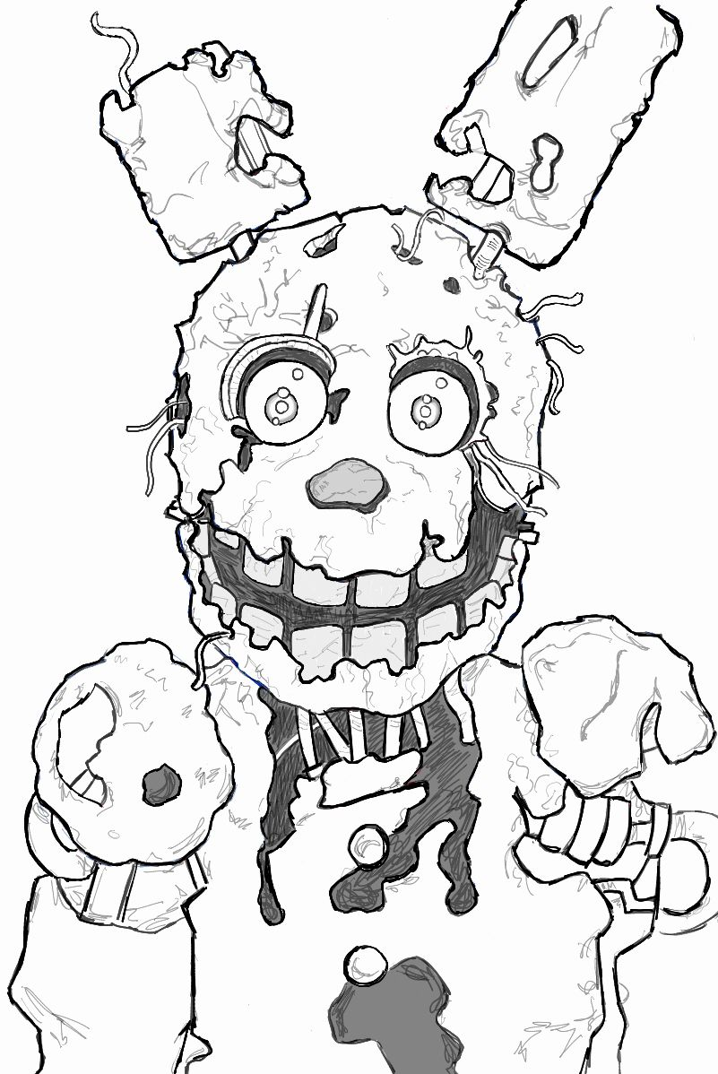 Spring Bonnie Coloring Pages Fresh How To Draw Springtrap From Five Nights At Freddy S 3 Step Coloring Pages Coloring Books American Flag Coloring Page