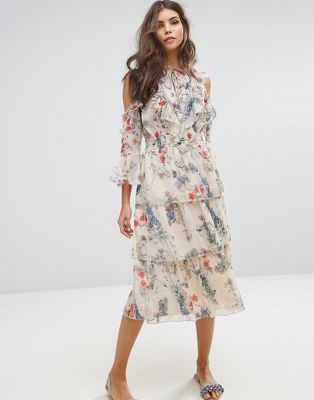 b1232b7c7759 Miss Selfridge Floral Printed Ruffle Dress | Looks | Dresses ...