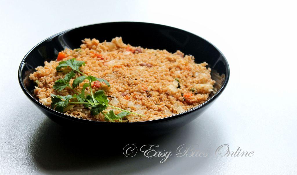 Broken wheat khara bhath recipe vegetarian platter