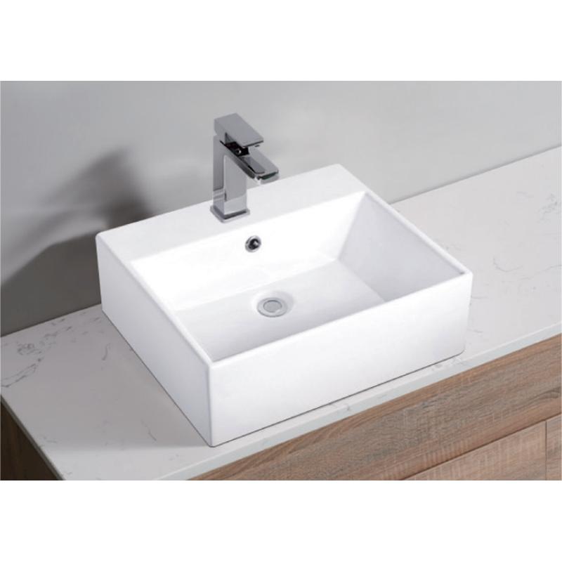 White High Gloss Ceramic Bathroom Sink Basin Above Counter Top Wall Hung 510x430x145mm Shopping Bu Ceramic Bathroom Sink Cheap Bathroom Vanities Bathroom Sink