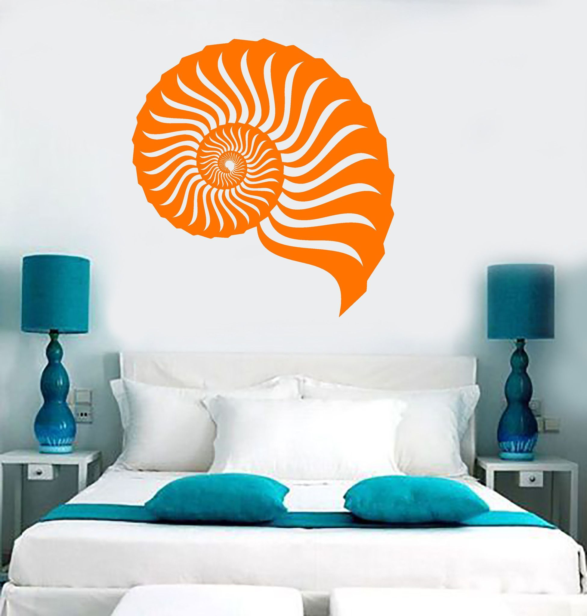 vinyl wall decal seashell marine sea beach style room stickers