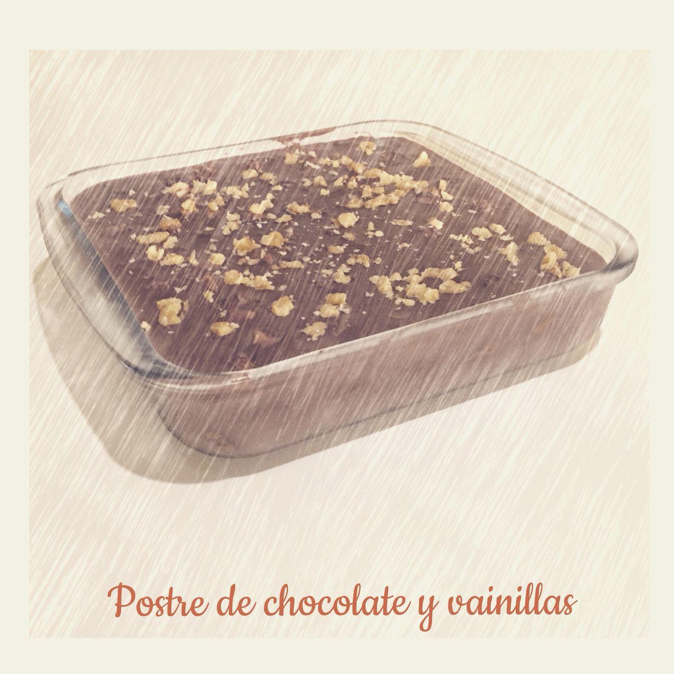 Postre de chocolate con vainillas  hecho por mi ❤️