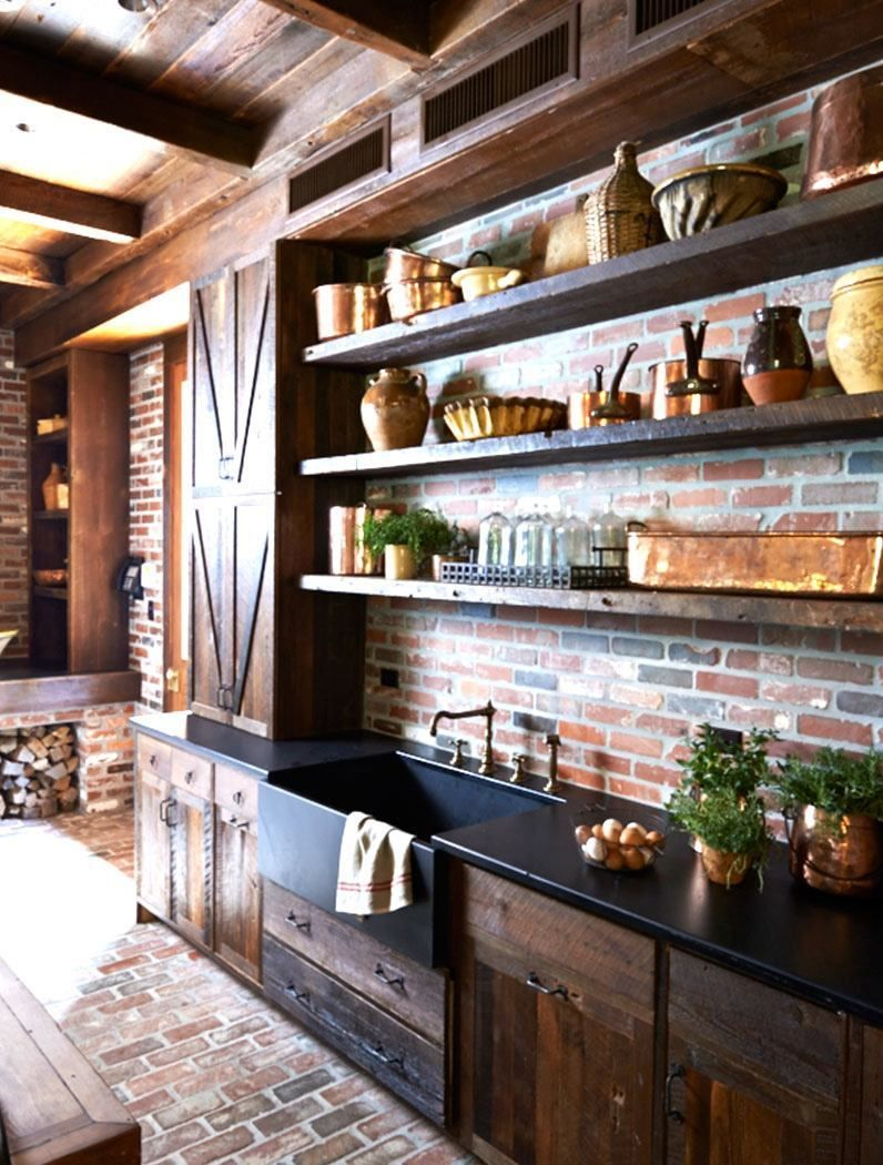 New Rustic Country Kitchen Pictures