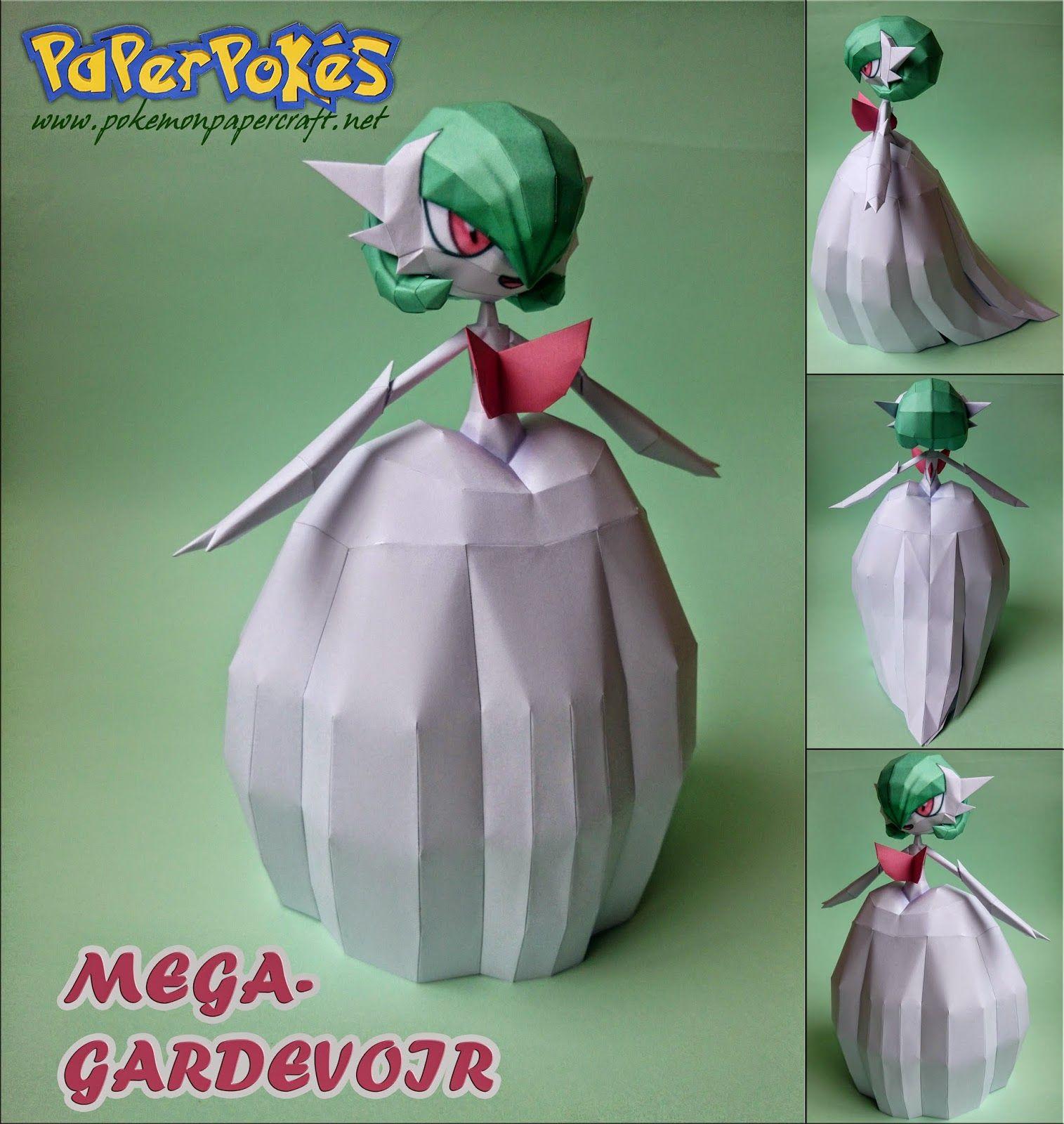 Paperpokés Pokémon Papercrafts MEGA GARDEVOIR