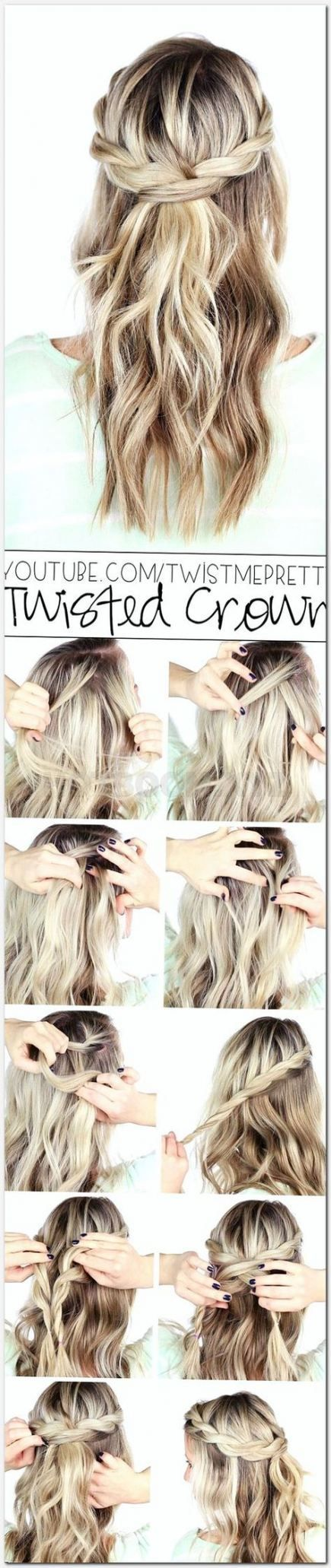 Trendy hairstyles for medium length hair round face curly 29 Ideas