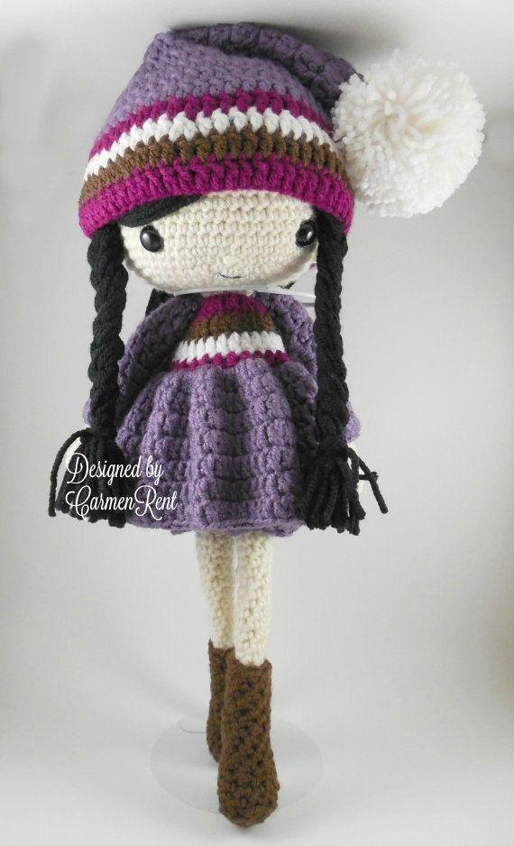 Irene - Amigurumi Doll Crochet Pattern PDF | Muñeca amigurumi ...