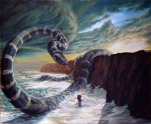 Image of Jormungandr Midgard Serpent Dragon