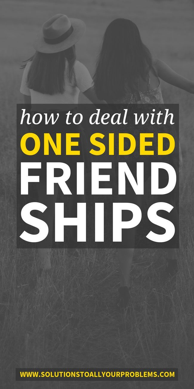 How to Deal With a OneSided Friendship