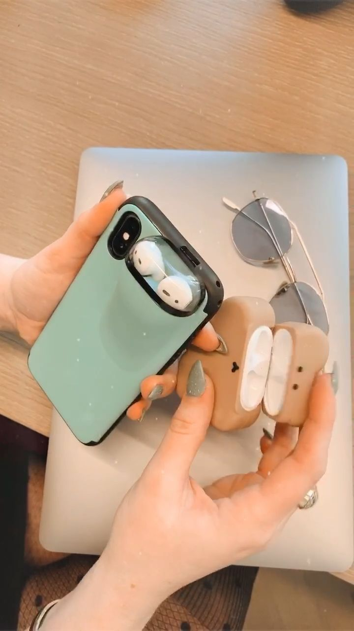 iPhone Case Cover with AirPods Earphone Holder [Video] [Video] in 2020   Iphone case covers, Creativ