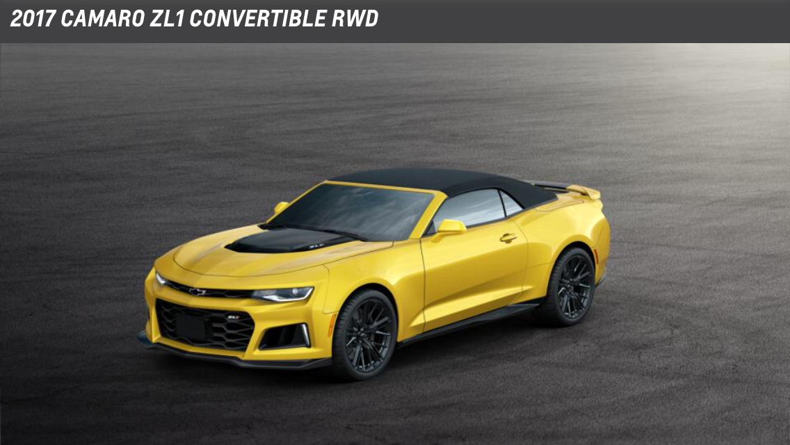 The New 2017 Chevy Camaro Zl1 Drop Top