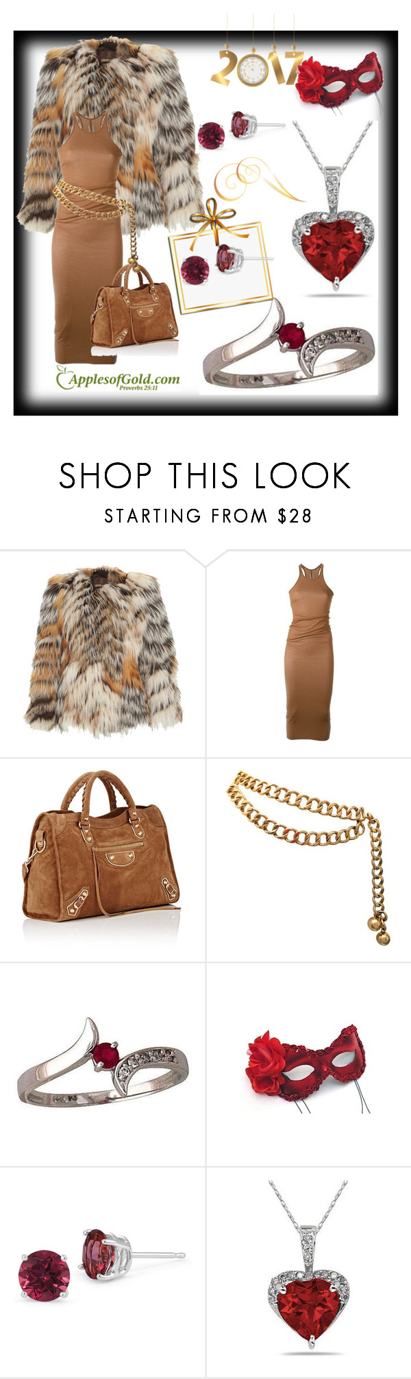 """""""Applesofgold.com/ruby and diamond"""" by alma-ja ❤ liked on Polyvore featuring Roberto Cavalli, Rick Owens, Chanel and Masquerade"""