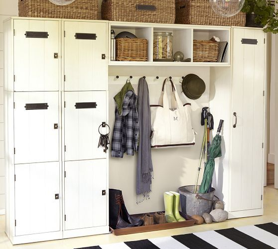 Good Example For The Mudroom Modular Family Locker Entryway System Pottery Barn