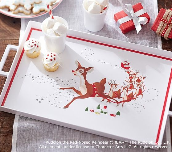 Rudolph the Red-Nosed Reindeer® Tray | Pottery Barn Kids
