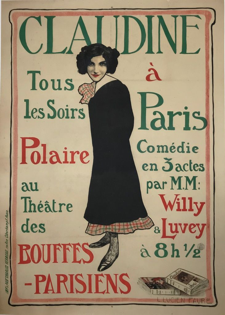 Claudine a Paris Comedie in 2020 Poster ads, Vintage