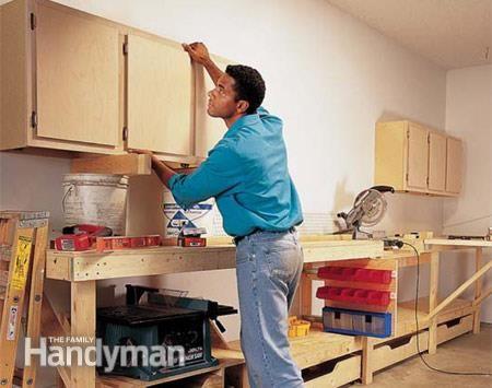 Inspirational Family Handyman Garage Cabinets