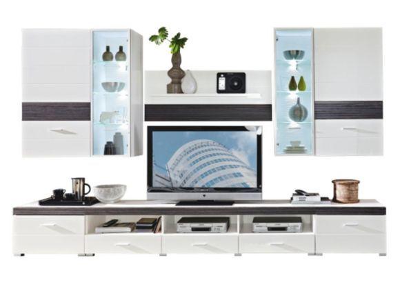Die Wohnwand  - hängeschrank wohnzimmer weiß