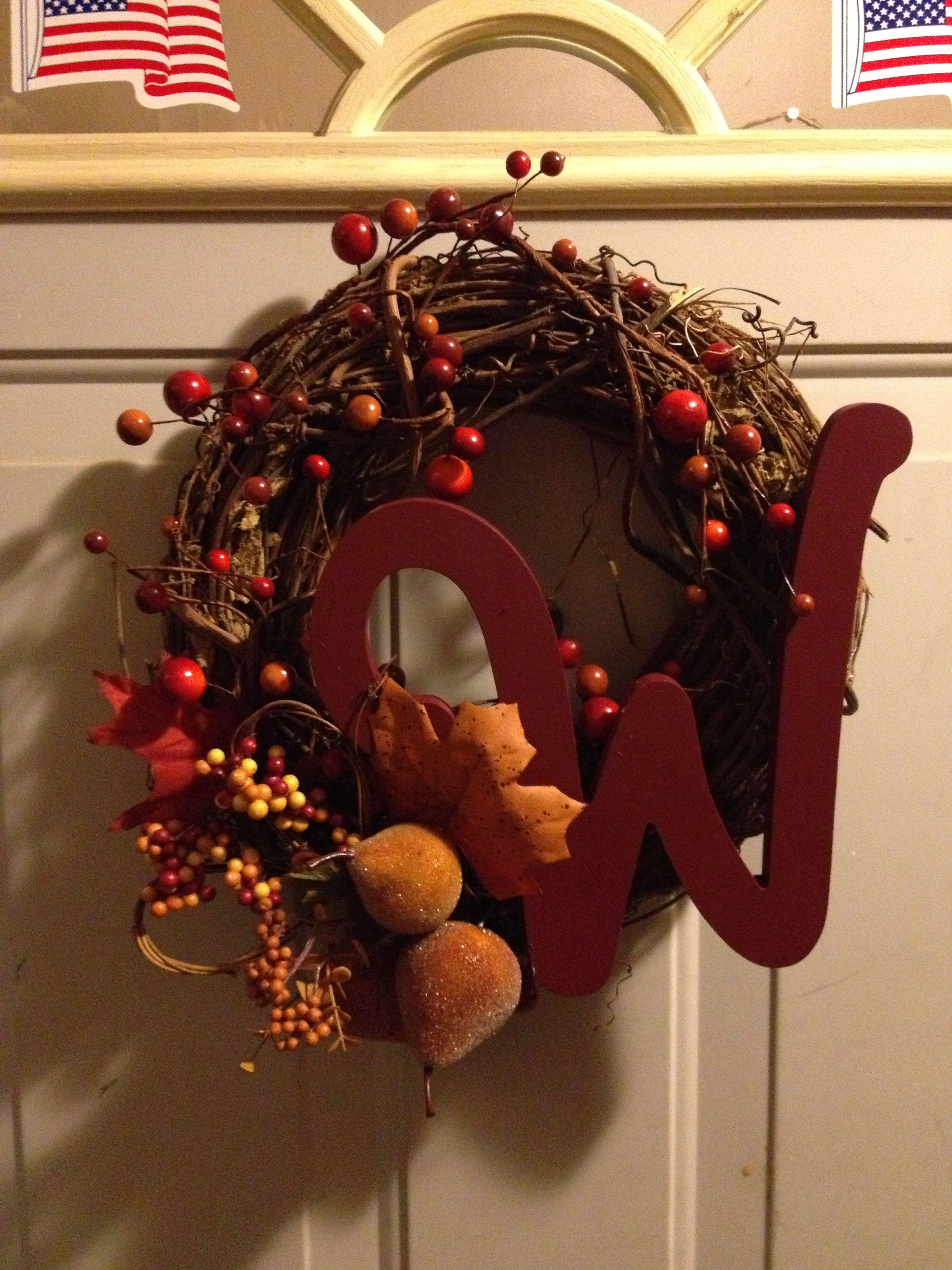Homemade Thanksgiving wreath