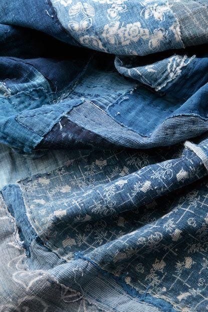 (via Pin by Anna Maria Mazzi on ~ Blue Mania ~ | Pinterest) Found on keroiam.tumblr.com Anna Maria Mazzi • Traditional Japanese textiles...