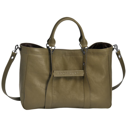664e9d7cecd Medium tote bag - LONGCHAMP 3D - Handbags - Longchamp - Khaki - Longchamp  United-States