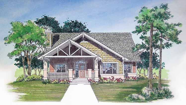 Bungalow House Plan with 2033 Square Feet and 3 Bedrooms(s) from ...