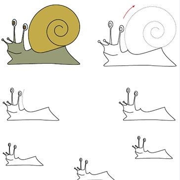 Graphisme moyenne section tracer la spirale exterieure vers interieure grapho pinterest - Escargot maternelle ...