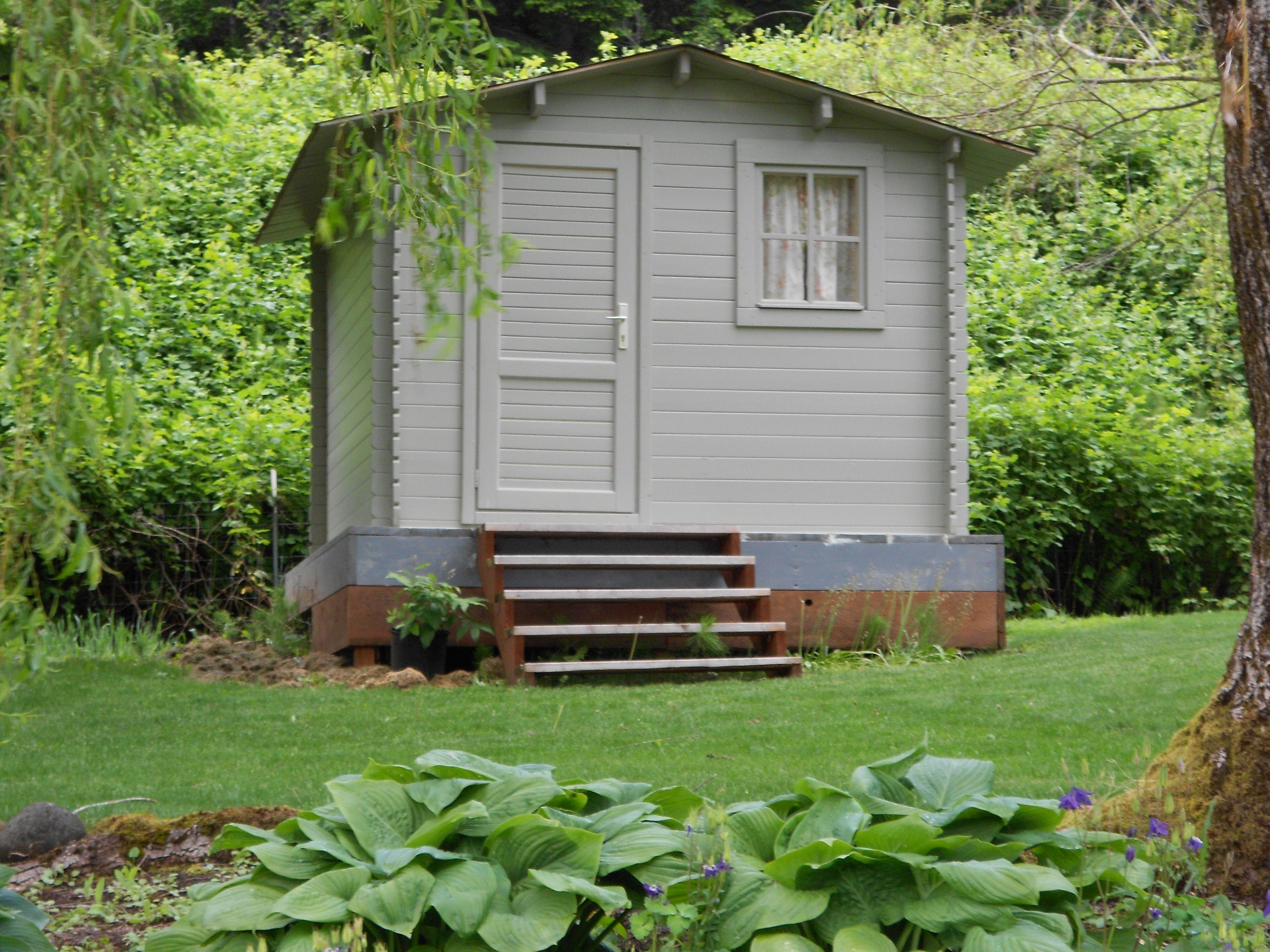 Guest Cottage Pool House Lilly 10x10 All Natural Wood Shed