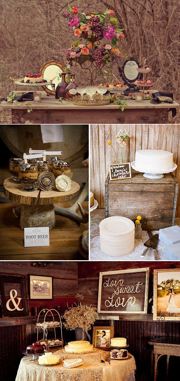 Decoraci n de mesas de postres para bodas en el campo for Adornos d mesa para boda
