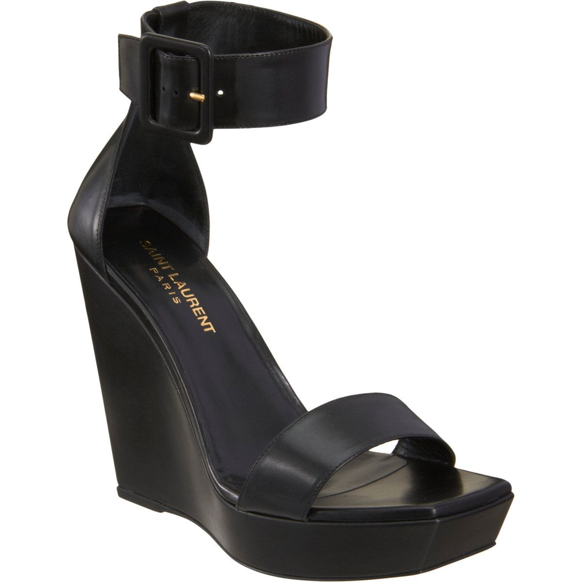 Saint Laurent Wedge Sandal at Barneys.com