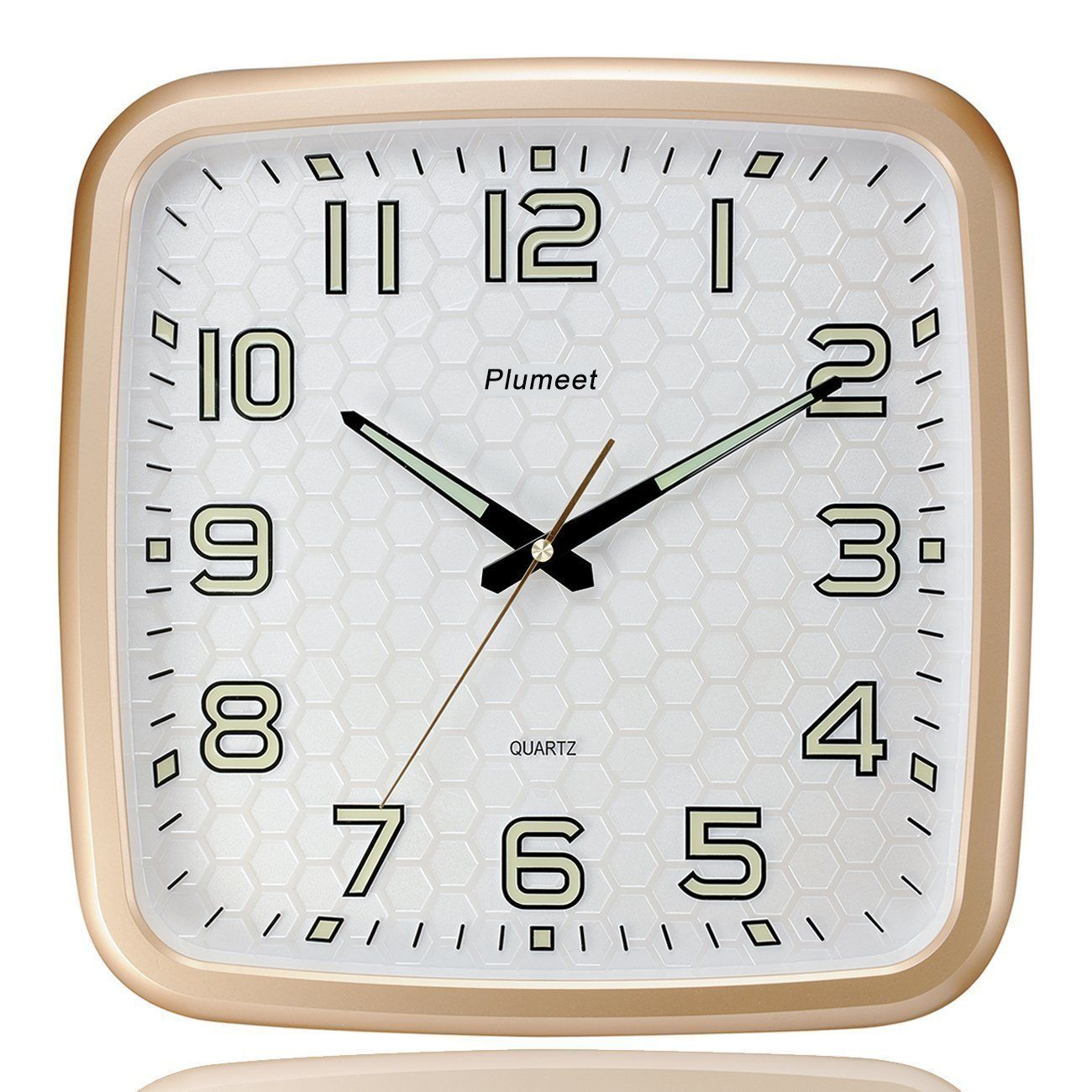 Plumeet 14 Inch Wall Clock With Classics And Specified Design Of Silent Non Ticking Night Lights For Indoor Kitchen Large Num Wall Clock Clock Retro Wall Clock