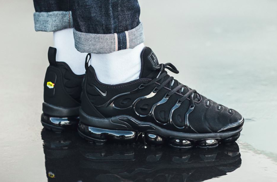 ff93b8f189ad Get Ready For The Nike Air VaporMax Plus Triple Black  Sneakers ...