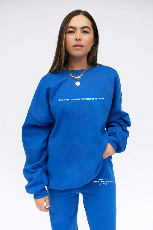 Left My Designer Royal Blue Crewneck The Mayfair Group Llc Blue Crewneck Designer Sweatshirts Crewneck Outfit [ 1500 x 1000 Pixel ]